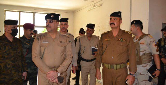قائد شرطة ديالى يجري جولة ميدانية على المراكز الانتخابية في ناحية الوجيهية