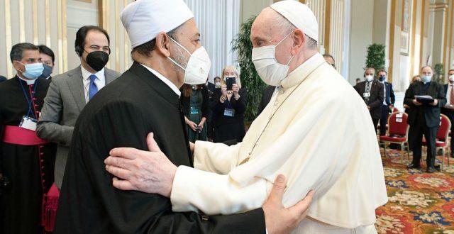 الامام الأكبر يوقع مع البابا ورموز الأديان علي نداء قادة الأديان من أجل التغير المناخي