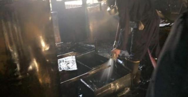 اخماد حريق اندلع داخل دائرة القاصرين في المثنى وإصابة أحد العاملين
