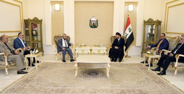 الحكيم يستقبل وفد جمعية مصنعي الاسمنت في العراق