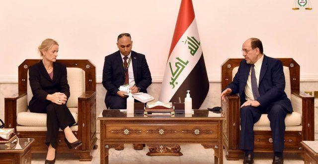 المالكي يستقبل رئيسة بعثة الاتحاد الاوربي لمراقبة الانتخابات