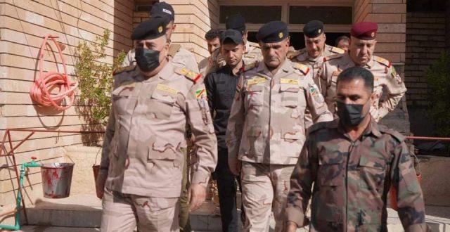 قائد القوات البرية يزور مقر الحشد في ديالى ويعقد اجتماعا بشأن تأمين الانتخابات